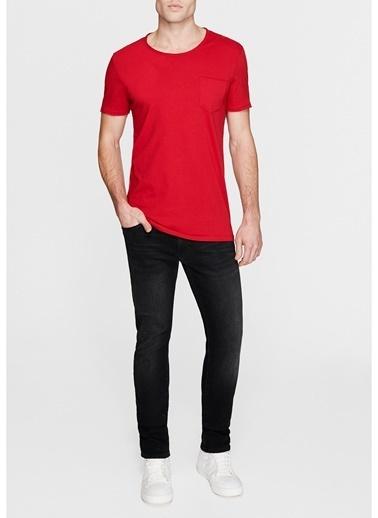 Mavi Basic Tişört Kırmızı